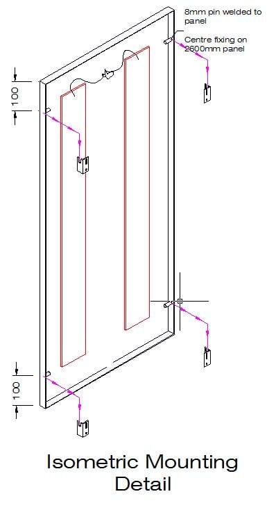 Isometric Mounting Detail taken from the Working Drawing