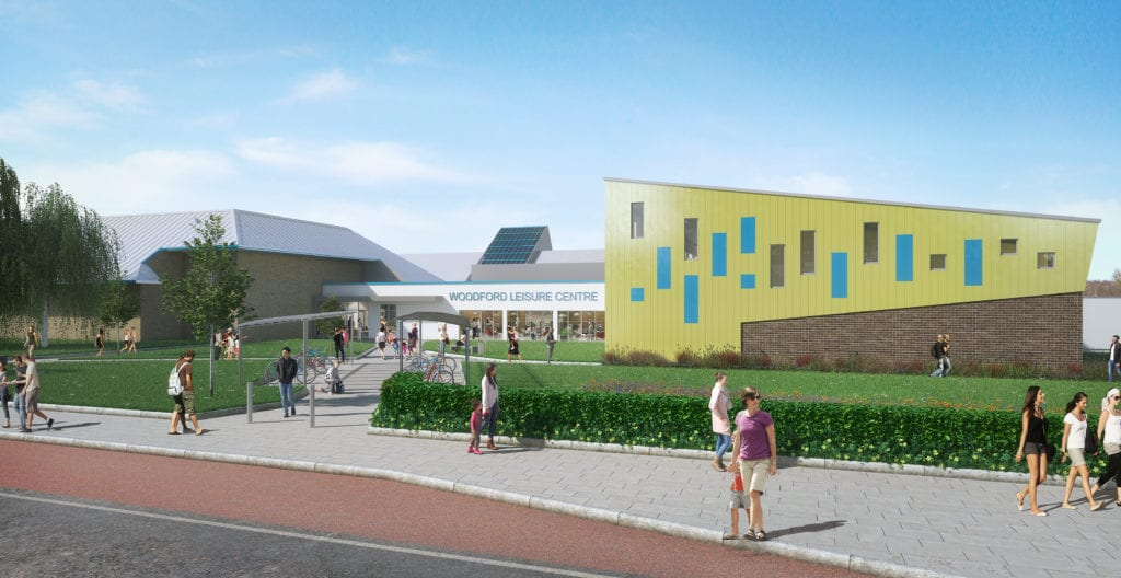 Artists impression of the refurbished Woodford Leisure Centre
