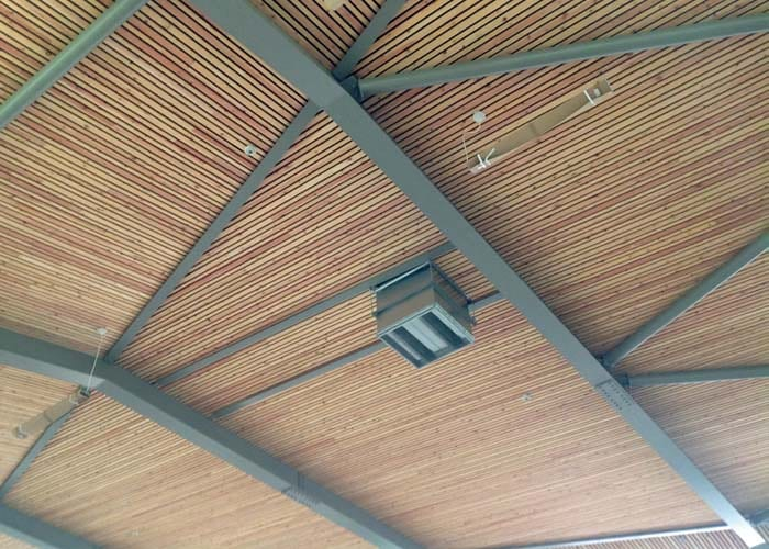The soffit of the new sports hall at Manor Preparatory School