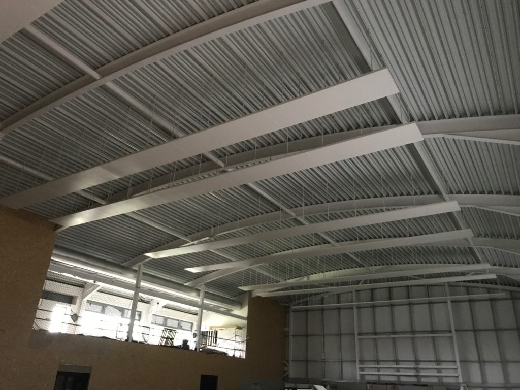 Solray free hanging radiant panels at Badminton School