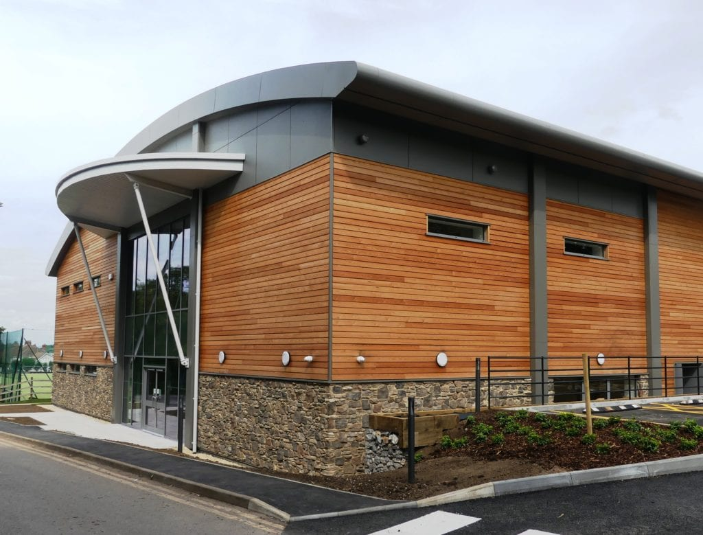 The new Sports Centre at Badminton School