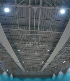 Solray Free Hanging Panels installed at Coleg Sir Gar