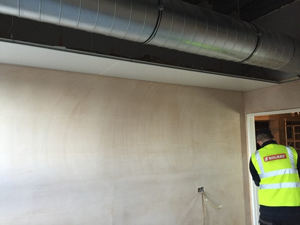 A Solray DM Perimeter being installed by Solray at Rochdale Infirmary