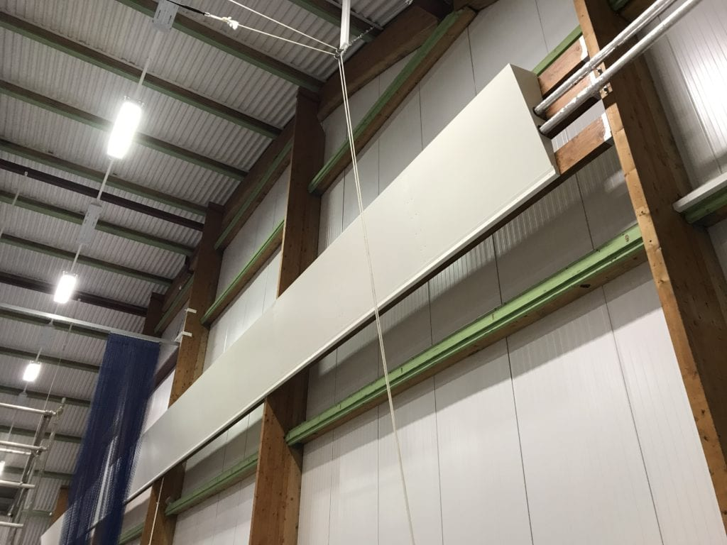 Solray Angled Wall Panel installed at Dick McTaggart Gymnastics Centre